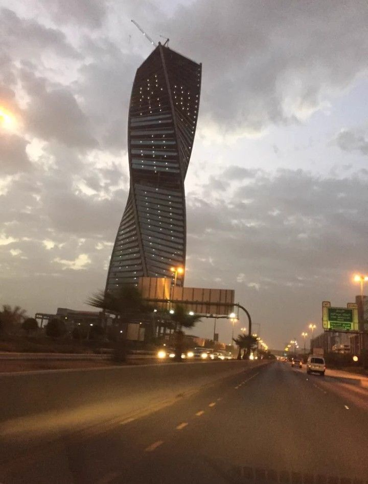 البرج المجدول الرياض Skyscraper Black Hole Building