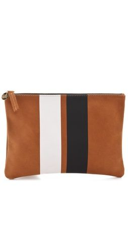 CLARE VIVIER Stripe Flat Clutch - can I do this to my American apparel clutch like this!?!