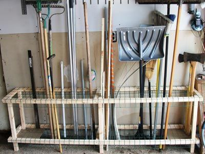 25 best garage tool storage ideas on pinterest garage for Garden tool storage ideas