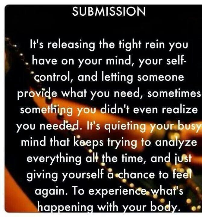 topics defining submission mindset
