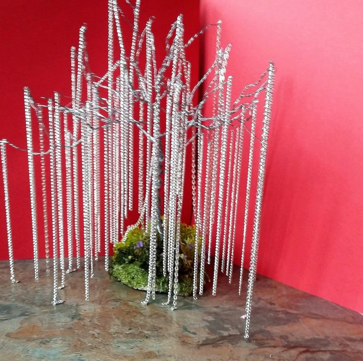 Wire Willow Tree, With Silver Chains, Stunning Willow Tree, Gifts, Gifts For Her, Original Gifts, Birthday Gifts, Anniversary, Tree Of Life by SpryHandcrafted on Etsy
