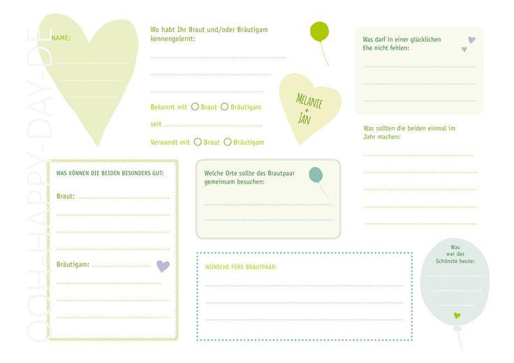 DIY Gästebuch im Liebehoch2 Design. Eine tolle Erinnerung an Eure Hochzeit. Gästebuch zum Selbermachen. Ihr bekommt ein 4 seitiges PDF mit Titel (individuell mit Euren Namen und Datum),...