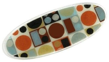 """Peggy Karr Glass - Metro 18"""" Boat - contemporary - serveware - Bonfetti"""