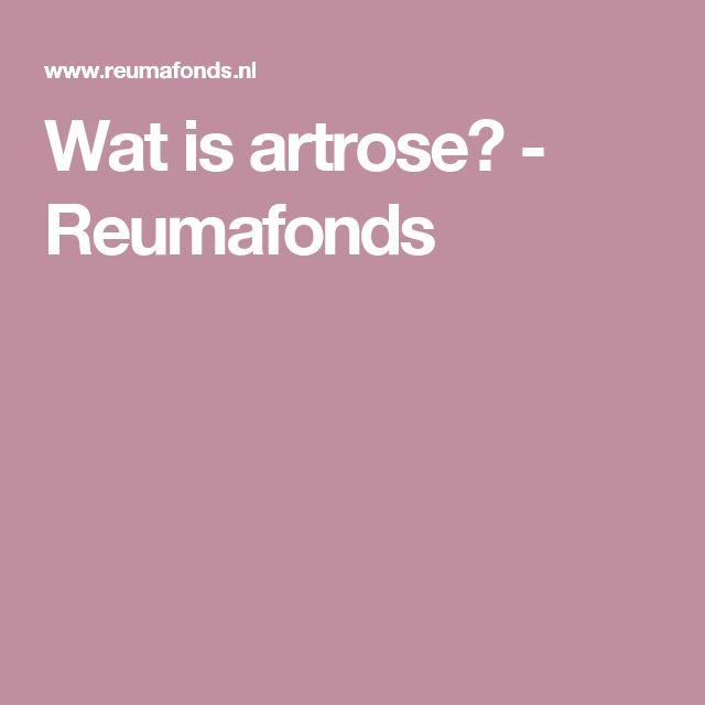 Wat is artrose? - Reumafonds