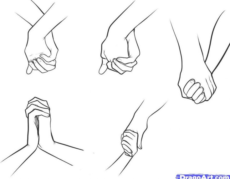 how to draw people | How to draw people holding each other pictures 1