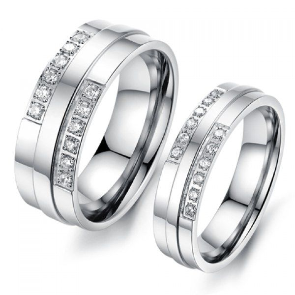 $4.95 - Rhinestone Double Row Ring - #WHOLESALE #JEWELRY - Wholesalerz.com
