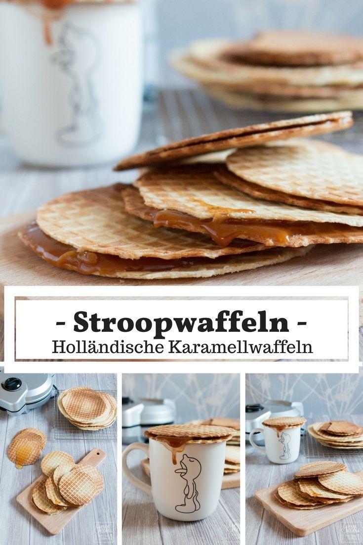Stroopwaffeln sind holländische Zimtwaffeln mit einer Karamellfüllung darin.  Wer ein Hörncheneisen hat, kann dies Zuhause ganz einfach selber machen.  #waffeln #waffels #dutch #holländisch #caramel #karamell #cinnamon #zimt