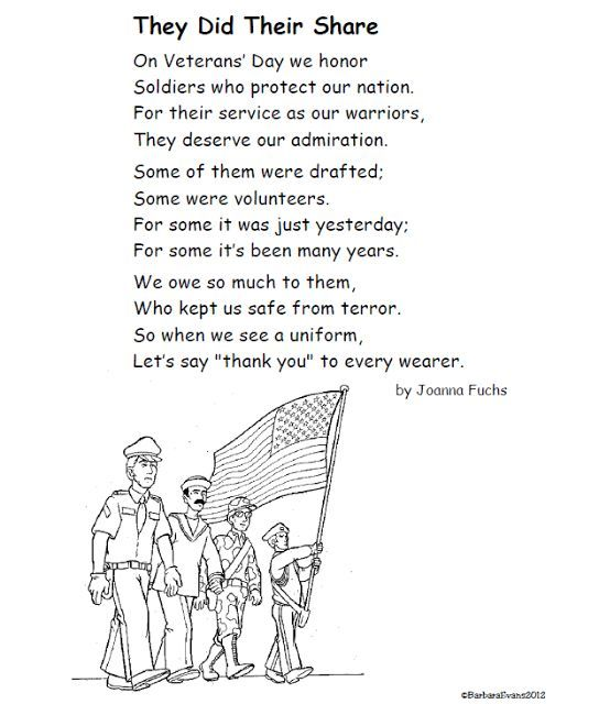A Poem for Veterans Day FREE #VeteransDay www.operationwearehere.com/veteransday.html: