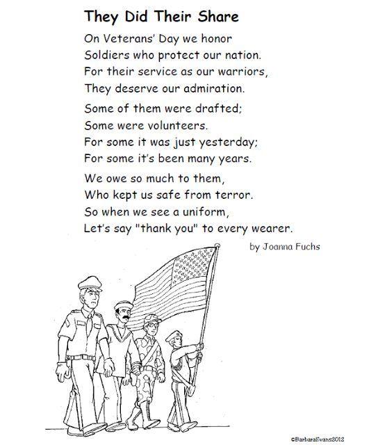 A Poem for Veterans Day FREE #VeteransDay www.operationwearehere.com/veteransday.html: