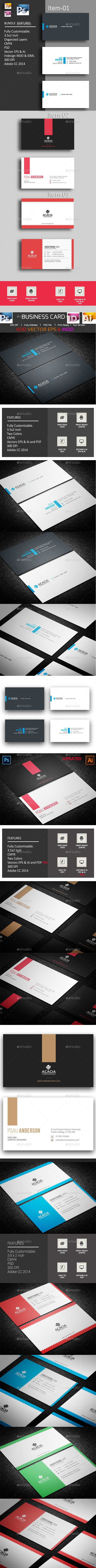B. Card #Bundle_14 (03 items) - Corporate #Business #Cards Download here: https://graphicriver.net/item/b-card-bundle_14-03-items/20044453?ref=alena994