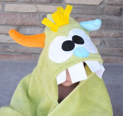 Monster Hooded Towel Tutorial - Adorable!