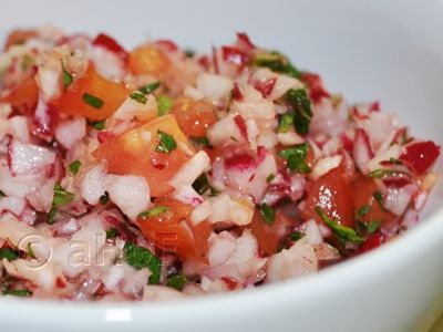 Chopped Radish Salad (Picado de Rabano). Tasting this was the first time I liked radishes. Guatemala has some very innovative ways of using simple foods that elevates them to grand heights. This is one.