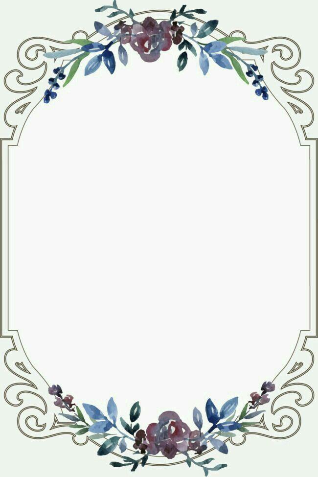 Pin By Win Honey Ferlyta On Wallpaper Floral Border Vintage Borders Trendy Flowers