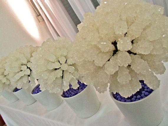 Rock Candy Centerpiece Topiary Tree, Candy Buffet Decor, Candy Arrangement Wedding, Mitzvah, Party Favor, Edible Art. $78.99, via Etsy.