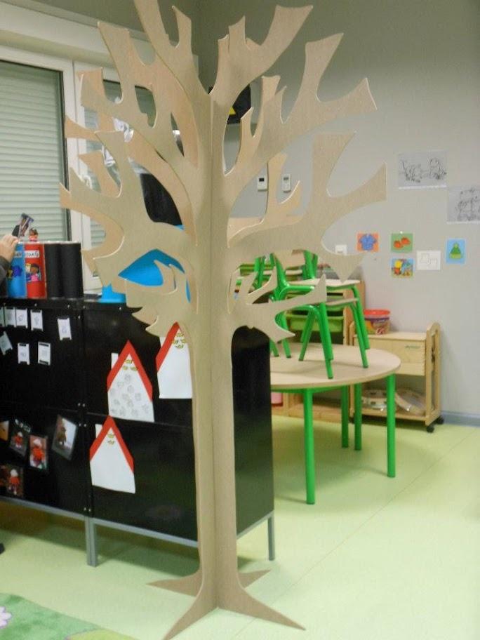 De seizoenen boom in de klas van juf Lisa