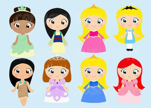 Instant Download 8 Princesses Princess Cute por CrunchySushiDay