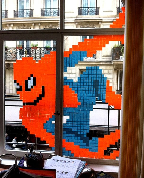 Check Out The Amazing Post-It Note Office Art…
