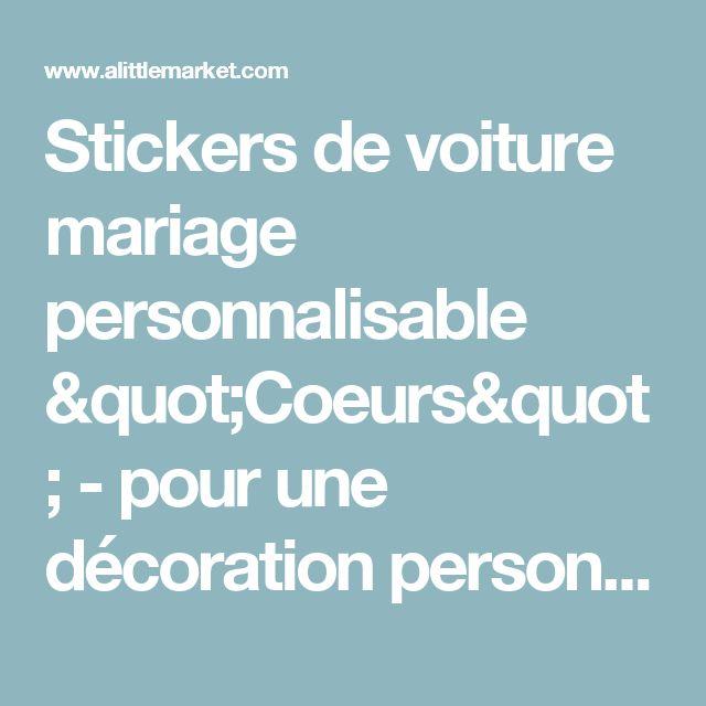 """Stickers de voiture mariage personnalisable """"Coeurs"""" - pour une décoration personnalisée  : Stickers par dessine-moi-ma-fete"""