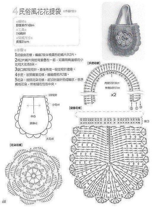 crochet bag pattern graph