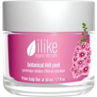 ilike organic skin care + botantical AHA peel + skin smoothing