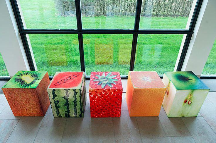 Кубические сиденья с фотодизайном
