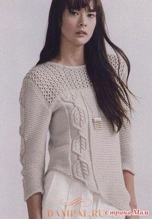 . Женский пуловер «Iclyn» - Вязание - Страна Мам