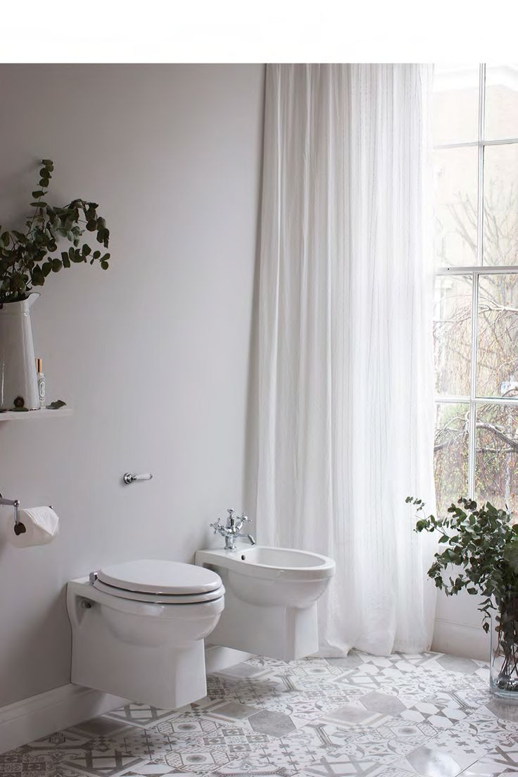 Modern wall hung design but classical traditional design ascetics? Yes it can be achieved tastefully, Burlington's wall hung toilet and bidet