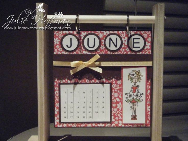 June 2011 calendar page julie hoffman by cards and paper crafts at splitcoaststampers
