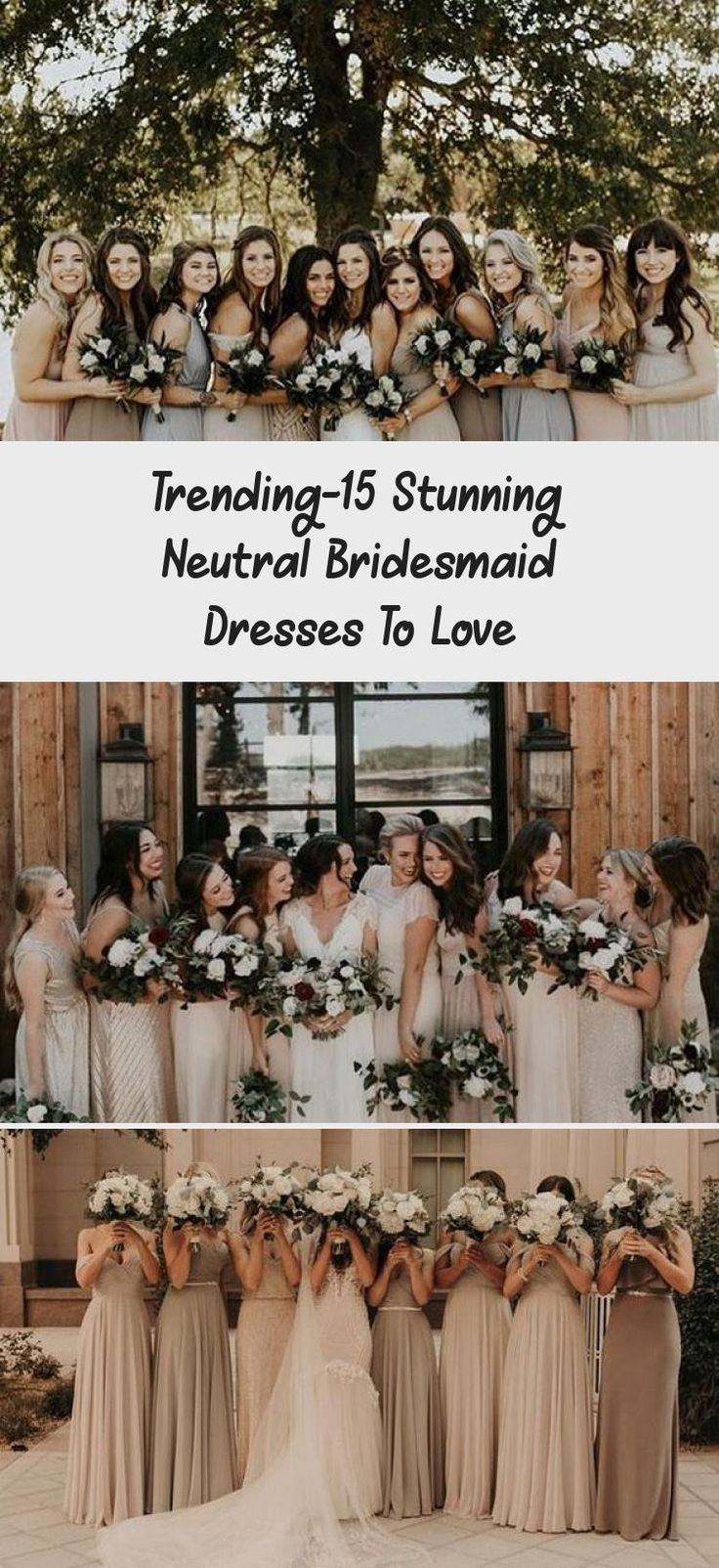 neutral champagne bridesmaid dresses #obde #weddingideas2019 #BridesmaidDressesCountry #BridesmaidDressesFall #MermaidBridesmaidDresses #ElegantBridesmaidDresses #NeutralBridesmaidDresses