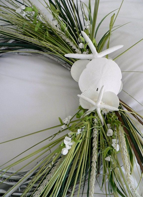 Beach Wreaths and Swags | Beach Wreath | Wreaths n' swags! babys breath and teal colored sea grass on sale at save on crafts. com