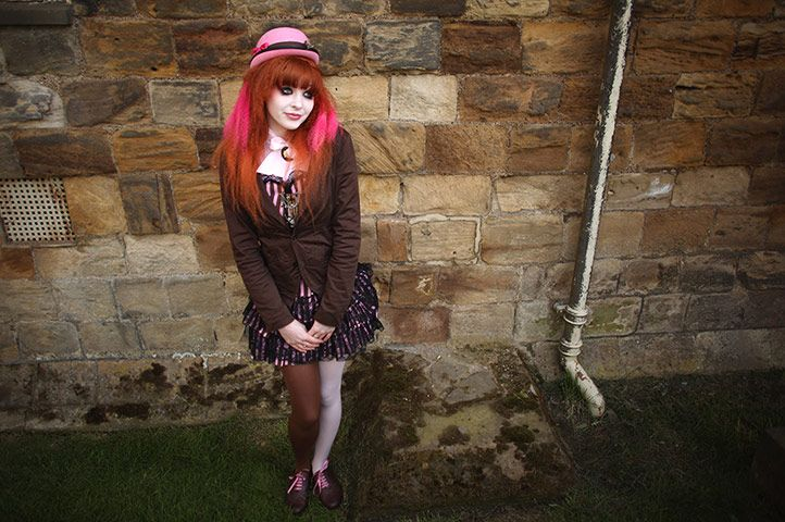 Young goth girl at Whitby, 2012.