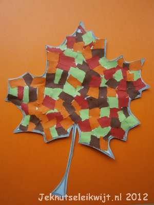 Herfstknutsel herfstblad 3.