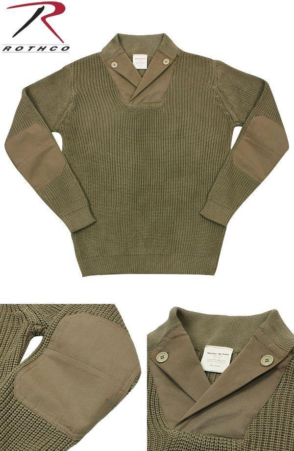 【楽天市場】≪WIP≫【ROTHCO ロスコ】米軍WWIIメカニックセーター カーキ 第二次世界大戦当時アメリカ軍のメカニックが使用していたセーターの復刻版です。:WIP楽天市場店