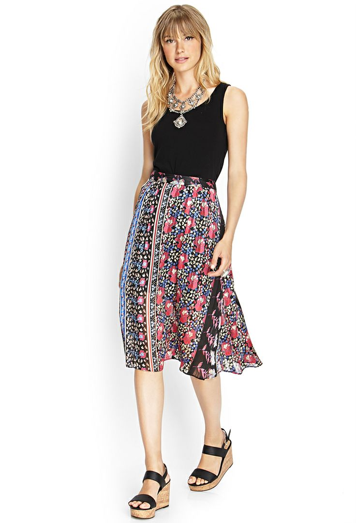 Floral Print Midi Skirt | FOREVER21 #F21Contemporary