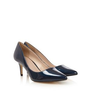 J by Jasper Conran Designer navy patent pointed toe court shoes- at Debenhams Mobile