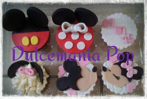 Cupcakes minnie & mickey