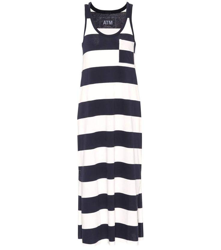 ATM ANTHONY THOMAS MELILLO Striped Cotton Dress. #atmanthonythomasmelillo #cloth #dresses