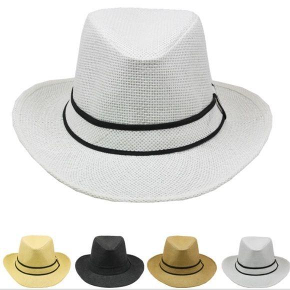 +GIFT! BEACH POPULAR Wide Brim Fedora Summer WOMEN MEN Hat Fedora FASHION WOMEN #MACKJEWELRY #FedoraTrilby