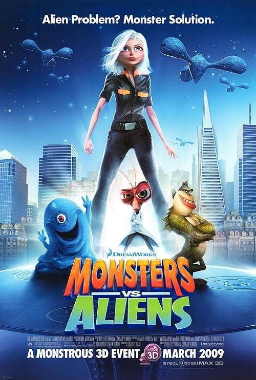 Monsters vs Aliens (2009) Poster