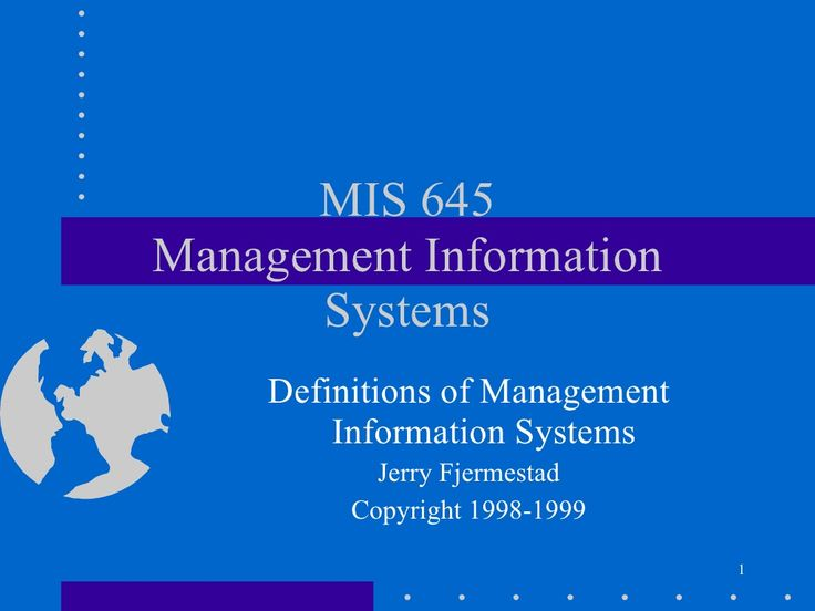 Definitions of management information systems by Dr-Othman Alsalloum via slideshare