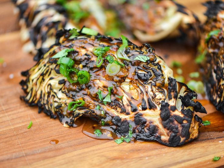 Grilled Cabbage Wedges With Ginger-Miso Dressing | Serious Eats : Recipes