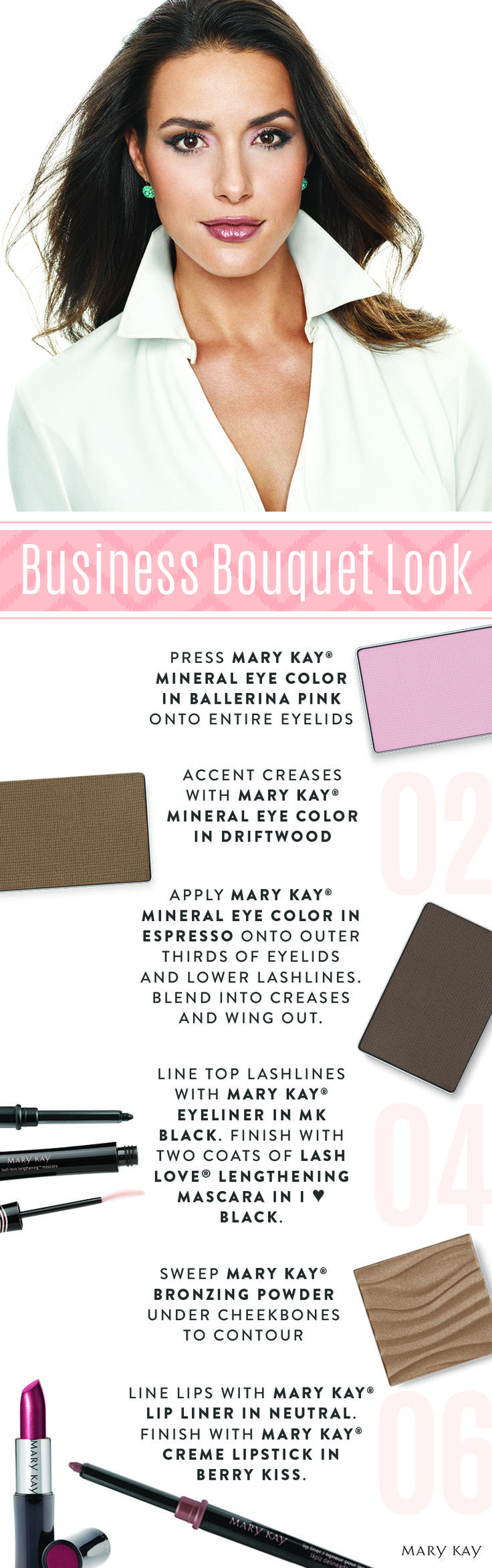 Your office look is as impactful as your date-night cat eye. Follow these tips for an easy-to-achieve gorgeous and professional makeup look that is great for both early morning meetings and after-hours networking. | Mary Kay
