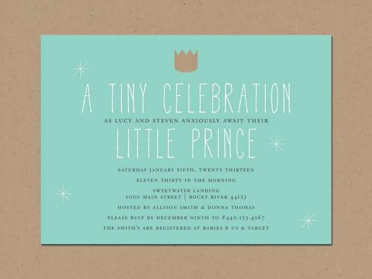 little prince baby shower invitation via etsy
