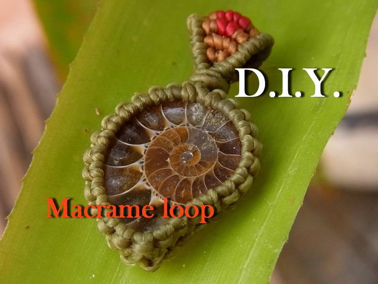How to make a macrame loop knot wrap pendant with waxed cotton thread