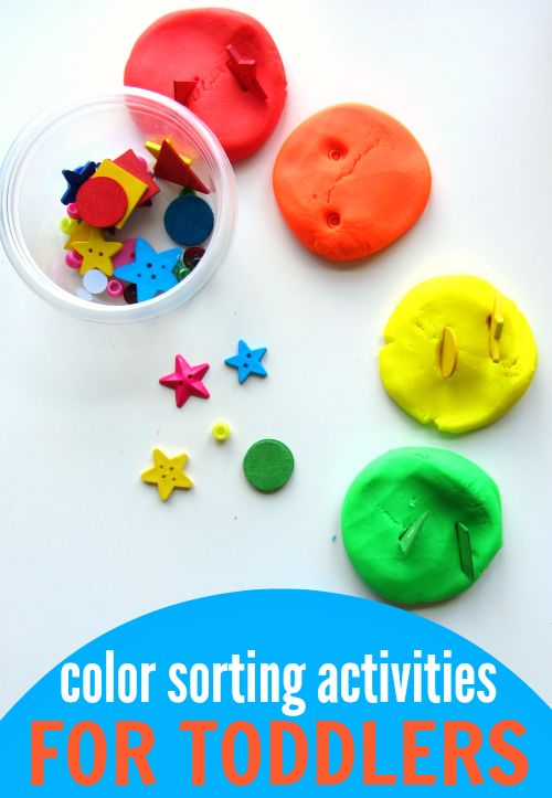 7 color sorting activities for toddlers... great list!