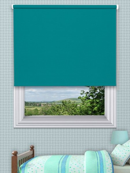 Vitra Teal Blackout Blinds - Our Vitra Range is our discounted blackout roller blinds collection available in 3 natural shades, the Vitra range roller blinds are made with aluminium tubing and come complete with a robust quality sidewinder control, for easy operation when lifting your blind up and down.