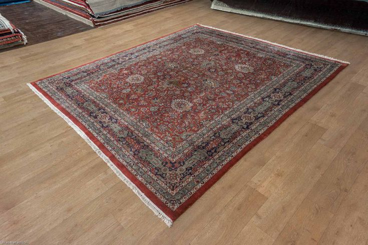Hand Knotted Indo Tabriz Rug from India. Length: 300.0cm by Width: 255.0cm. Only £1472 at https://www.olneyrugs.co.uk/shop/rugs-for-sale/indian-indo-tabriz-22364.html    Take a peek at our lovely mixture of Persian and Oriental carpets, foot stools and Kilim cushion covers at www.olneyrugs.co.uk