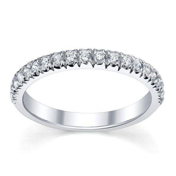 Top Quality 1/4Ct Round Diamond Micro Pave Set Half Eternity Ring, 9k White Gold Size R