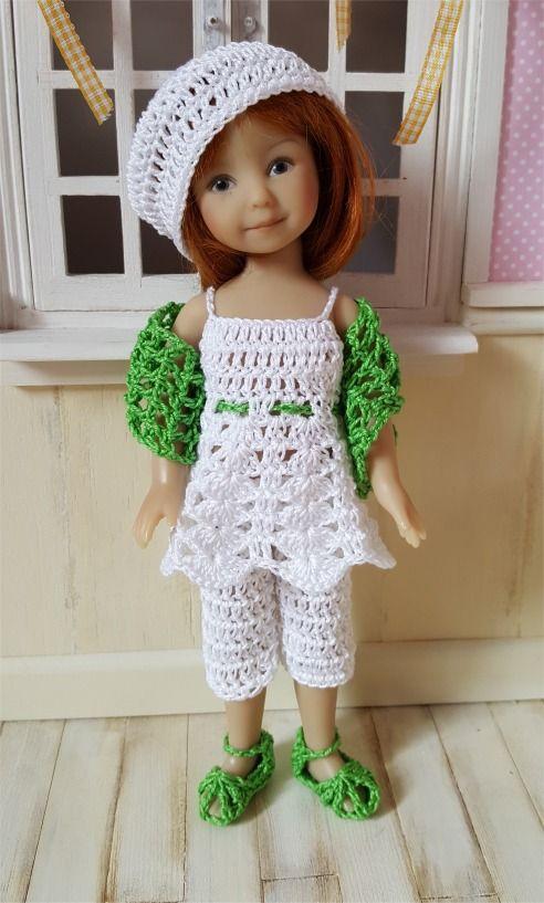 123- FICHE PATRON CROCHET Ensemble Inaya pour poupée Heartstring Dolls : Jeux, jouets par atelier-crochet