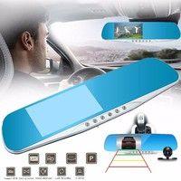 Wish   Winksoar F8C 4.3inch 1080P HD Dual Lens G-sensor 170° Rear View Mirror Car DVR Parking Camera Recorder Dash Cam Night Vision